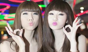 Style 'sinh đôi' của cặp bạn thân Ngọc Quyên, Khánh My