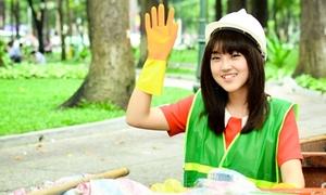Mi Soa 'hóa' cô công nhân vệ sinh