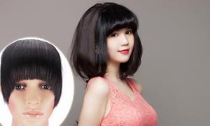 Sao Việt 'bại lộ' khi dùng tóc mái giả