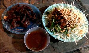 Nộm khô bò đêm - thú ăn vặt của teen Hà Nội