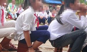 Thầy giáo cắt dép học sinh bị kỷ luật toàn ngành