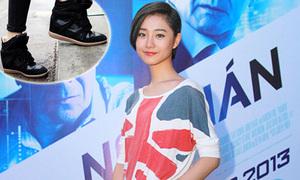 Hotgirl, sao Việt ăn gian chiều cao với giày thể thao