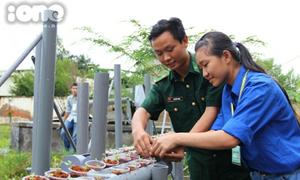 Mô hình trồng rau sạch cực kool của nữ sinh Nông Lâm