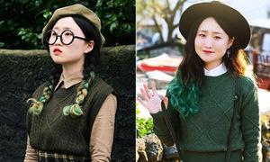 Cô bạn Hàn Quốc 'nấm lùn' với style vintage cực lạ