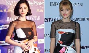Song Hye Kyo 'đọ' trẻ trung với Bella Thorne