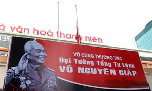 Cả nước treo cờ rủ để tang Đại tướng