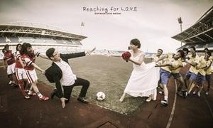 Bộ ảnh cưới cực độc của fan Arsenal Việt