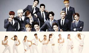EXO, SNSD dẫn đầu top nhóm nhạc Kpop 2013
