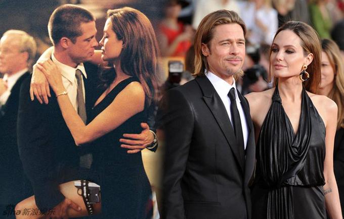 """<p class=""""Normal""""> Brad Pitt thừa nhận anh đã phải lòng Angelina Jolie khi đóng cặp <em>Mr. & Mrs. Smith</em> năm 2004. Khi đó anh còn chưa ly hôn với Jennifer Aniston.</p>"""