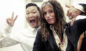 Psy hào hứng song ca cùng Aerosmith