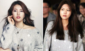 Suzy, SooYoung 'mặc chung' sweater lóng lánh