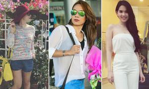 Đồ dạo phố đẹp mắt của sao Việt tuần qua