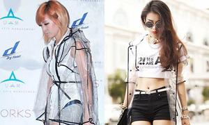 Ji Ah (Miss A), Ngọc Thảo đọ áo khoác trong suốt