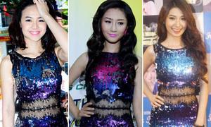Ngọc Diệp diện lại 'váy cũ' của loạt mỹ nhân Việt