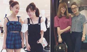 Chị em Song Yến tích cực diện đồ đôi dạo phố