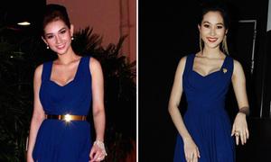 Hot girl Quỳnh Chi so gợi cảm với Hoa hậu Thu Thảo