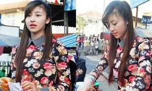 Nhan sắc gây sốt của cô gái Đà Lạt bán bánh tráng