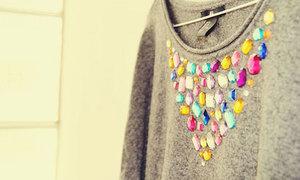 Áo thêm xinh với hình trái tim đá