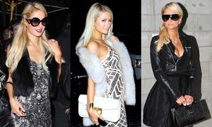 Style tiệc tùng ngày rét của tiểu thư đỏng đảnh Paris Hilton