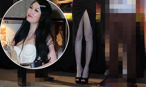 Hot or not: Phi Thanh Vân diện váy xẻ trước cao ngút
