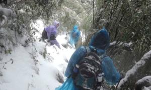 Leo Fansipan ngày tuyết như... lên Everest