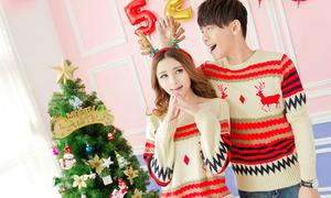 Áo họa tiết cực nhắng cho các đôi tình nhân mùa Noel