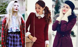 Street style ngập tràn sắc đỏ Noel của teen thế giới