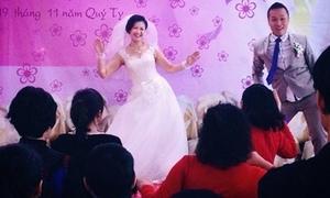 Cô dâu, chú rể nhảy cực sung trong đám cưới