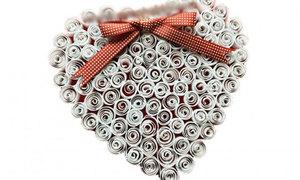 Xoắn giấy kết trái tim xinh xắn tặng người ấy