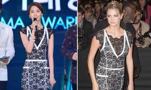 Yoon Ah đụng váy ren lạ mắt với 'người mẫu của năm'