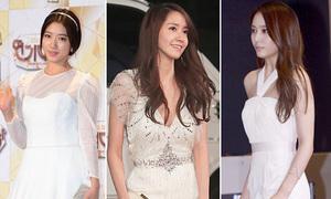 Sao Hàn đua nhau mặc đồ trắng dự tiệc cuối năm