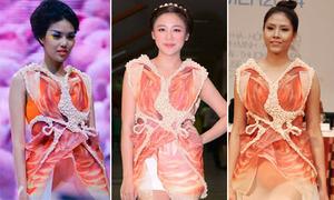 3 sao Việt đọ dáng với một mẫu đầm Hồng hạc