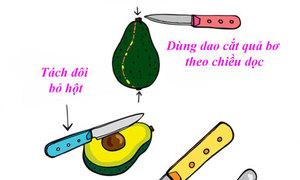 Tips: Cắt trái bơ đơn giản ngon miệng