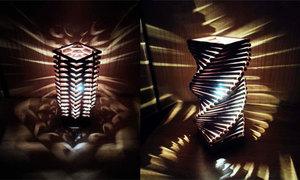 Thắp điện tháp gỗ sáng trưng chơi tết