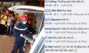 Cộng đồng mạng thương tiếc 4 sinh viên chết vì cháy nổ