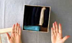 Tips: Gập và xếp những tất gọn gàng