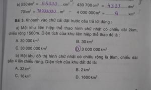 2 bài toán lớp 4 sai đáp án trầm trọng