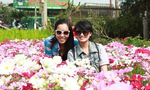 Teen Sài thành kéo về làng hoa lớn nhất miền Tây