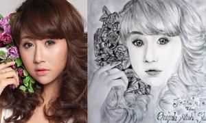 Fan Quỳnh Anh Shyn trổ tài vẽ tranh thần tượng cực iu