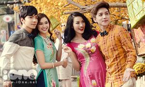 Trương Nhi, Lan Ngọc ghép cặp dạo phố cùng hotboy