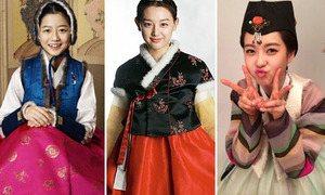 Sao Hàn đua nhau diện Hanbok đón Tết Nguyên đán