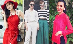 Ngày Tết sao Việt xúng xính quần áo mới