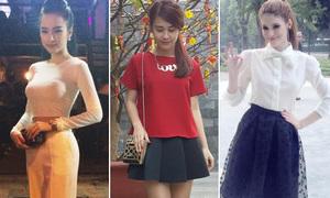 Hot teen Việt diện đồ xinh đi chơi đầu năm