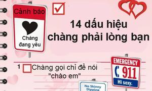14 dấu hiệu chàng phải lòng bạn