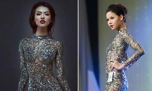 Hồng Quế đọ váy nàng tiên cá với bạn gái cũ Huỳnh Anh