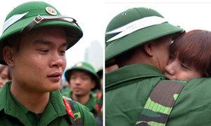 Nước mắt tân binh ngày nhập ngũ