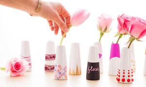 10 cách trang trí lọ hoa cực cool mà không tốn kém