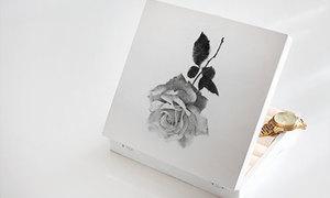 Hộp đựng trang sức hoa hồng kiểu vintage
