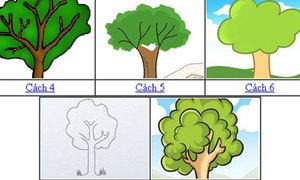 8 cách vẽ cây đơn giản vẫn đẹp lung linh