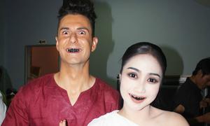 Ốc Thanh Vân hóa ma nữ Thái đáng sợ